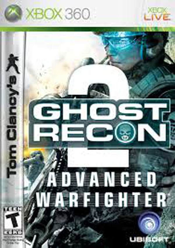 Tom Clancy's Ghost Recon Advanced Warfighter 2 Video Game Back Title by WonderClub