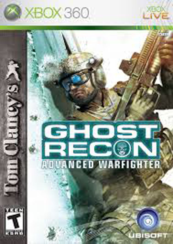 Tom Clancy's Ghost Recon Advanced Warfighter Video Game Back Title by WonderClub