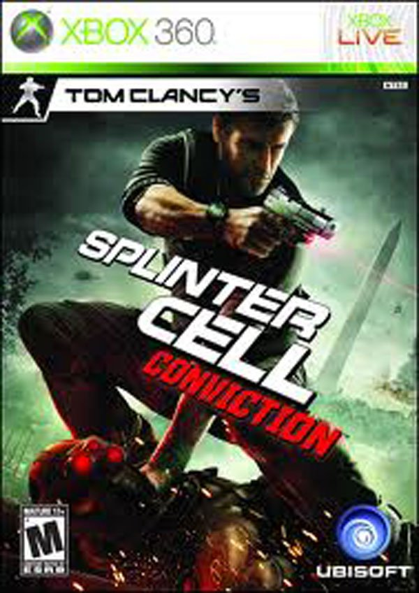 Tom Clancy's Splinter Cell: Conviction Video Game Back Title by WonderClub