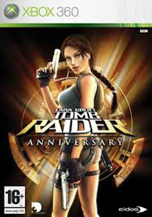Tomb Raider: Anniversary Video Game Back Title by WonderClub