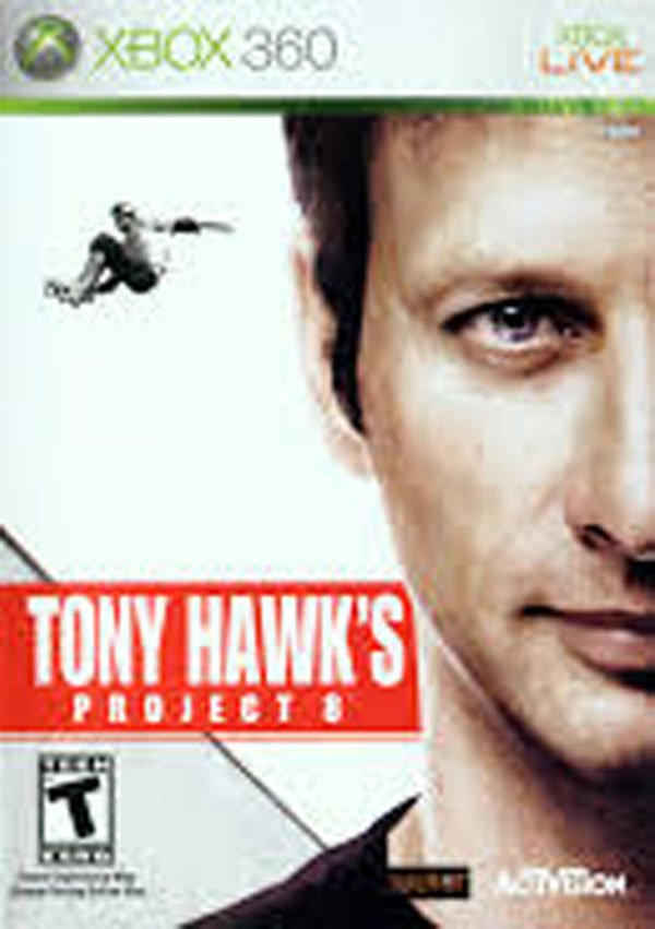 Tony Hawk's Project 8 Video Game Back Title by WonderClub