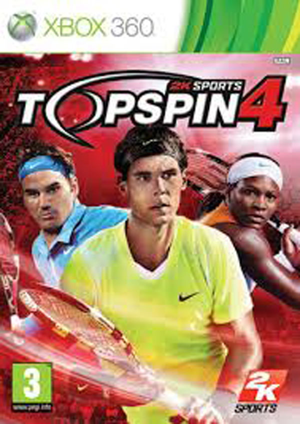 Top Spin 4 Video Game Back Title by WonderClub