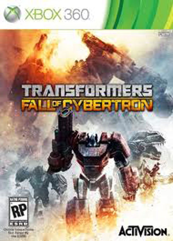 Transformers: Fall Of Cybertron Video Game Back Title by WonderClub