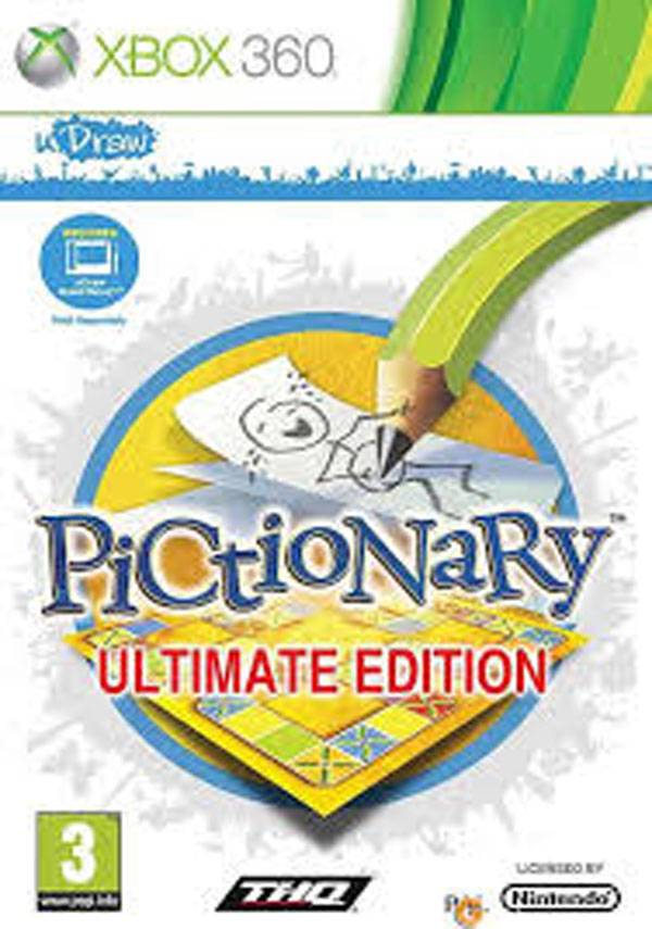 UDraw Pictionary Video Game Back Title by WonderClub