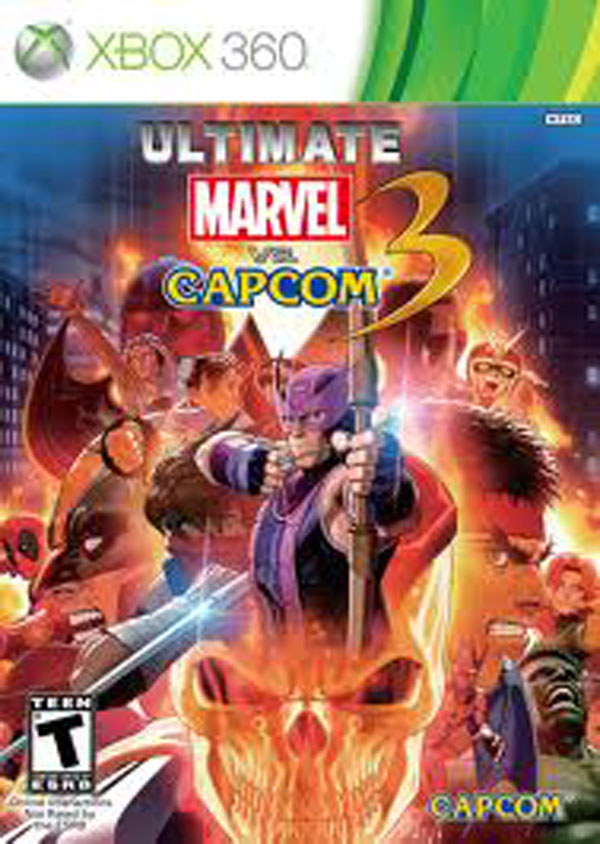 Ultimate Marvel Vs. Capcom 3 Video Game Back Title by WonderClub