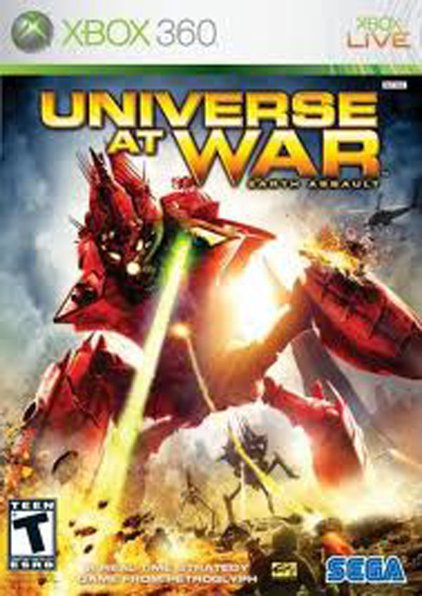 Universe At War: Earth Assault Video Game Back Title by WonderClub