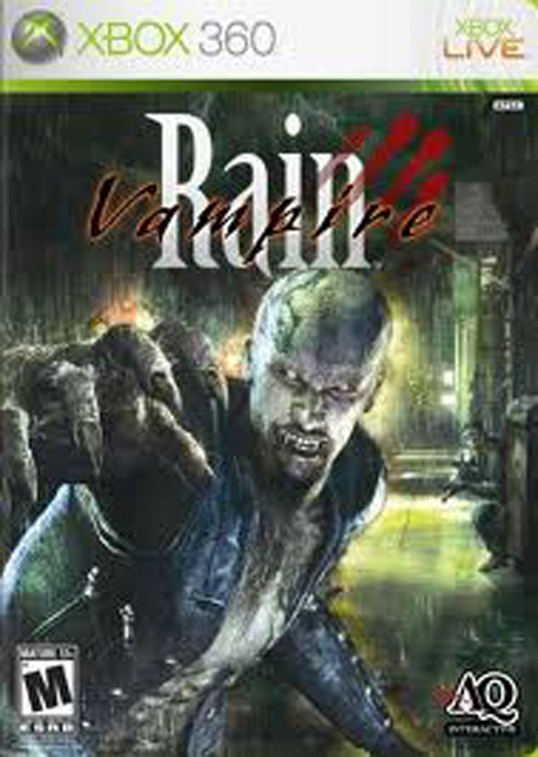 Vampire Rain Video Game Back Title by WonderClub