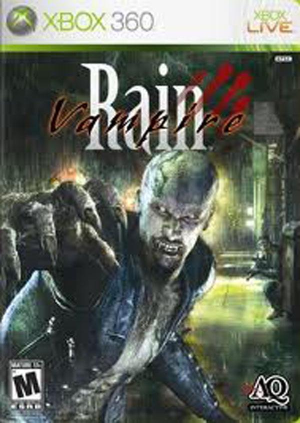 Vampire Rain Video Game Back Title by WonderClub