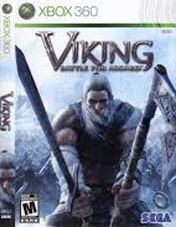 Viking: Battle For Asgard Video Game Back Title by WonderClub