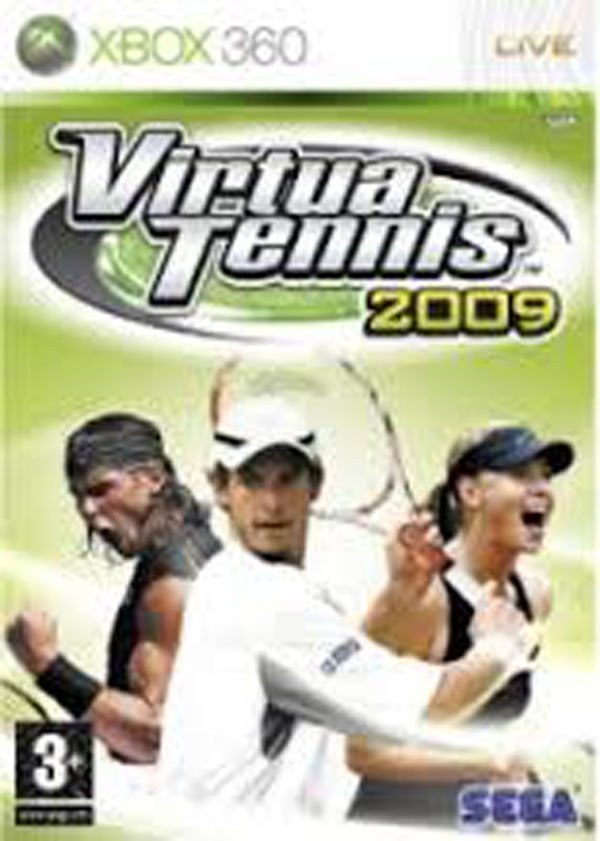 Virtua Tennis 2009 Video Game Back Title by WonderClub