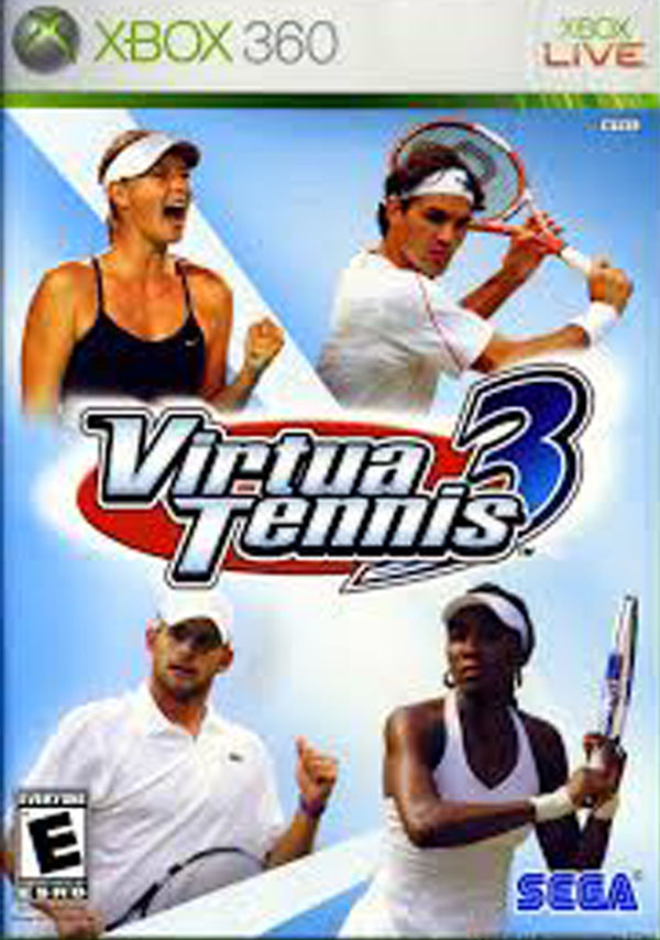 Virtua Tennis 3 Video Game Back Title by WonderClub