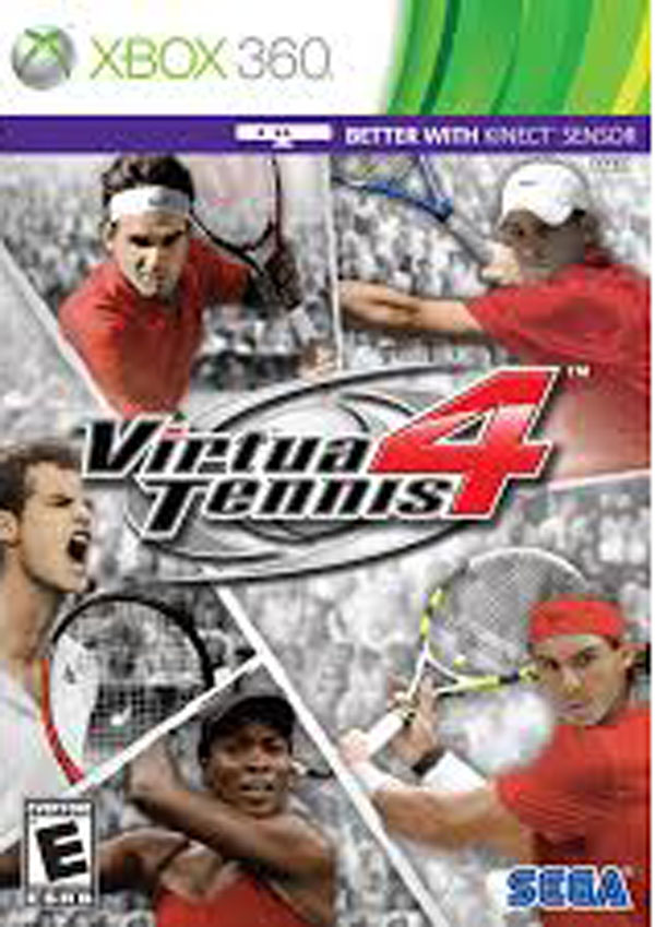 Virtua Tennis 4 Video Game Back Title by WonderClub