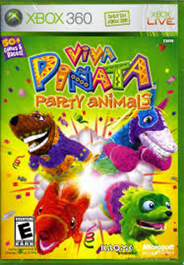Viva Piñata: Party Animals Video Game Back Title by WonderClub