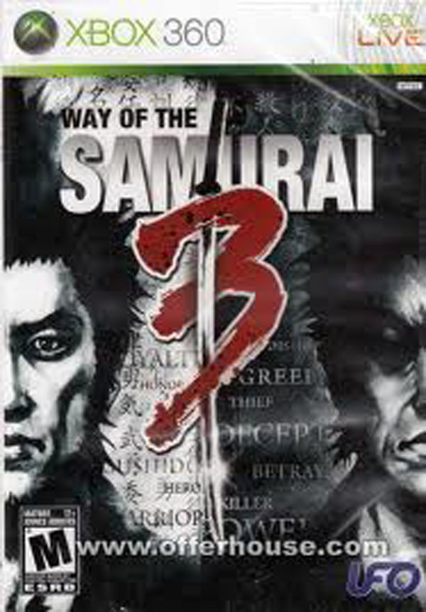Way Of The Samurai 3 Video Game Back Title by WonderClub