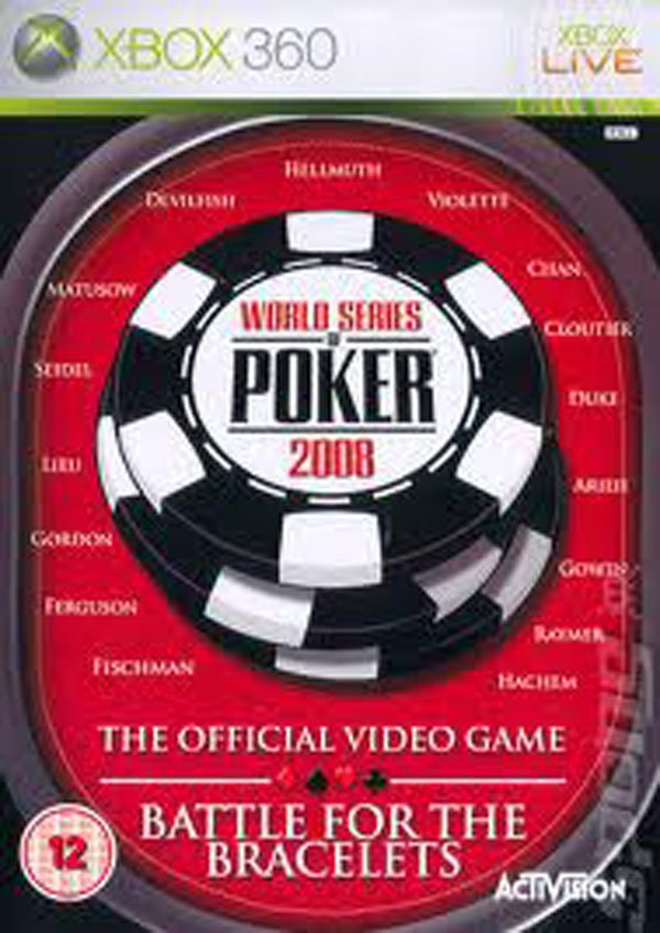 World Series Of Poker 2008: Battle For The Bracelets Video Game Back Title by WonderClub