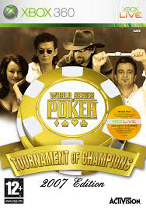 World Series Of Poker: Tournament Of Champions Video Game Back Title by WonderClub