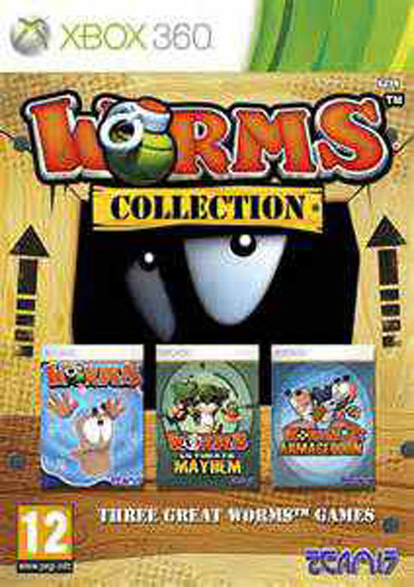 Worms Collection Video Game Back Title by WonderClub