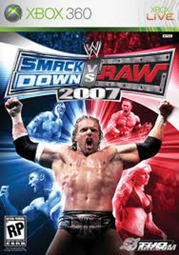 WWE SmackDown Vs. Raw 2007 Video Game Back Title by WonderClub