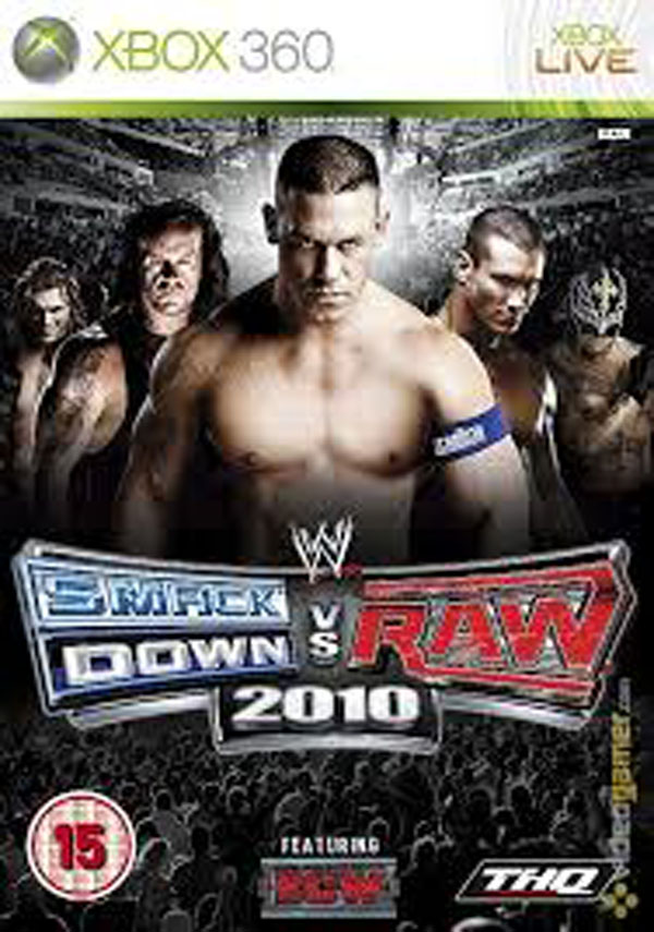 WWE SmackDown Vs. Raw 2010 Video Game Back Title by WonderClub