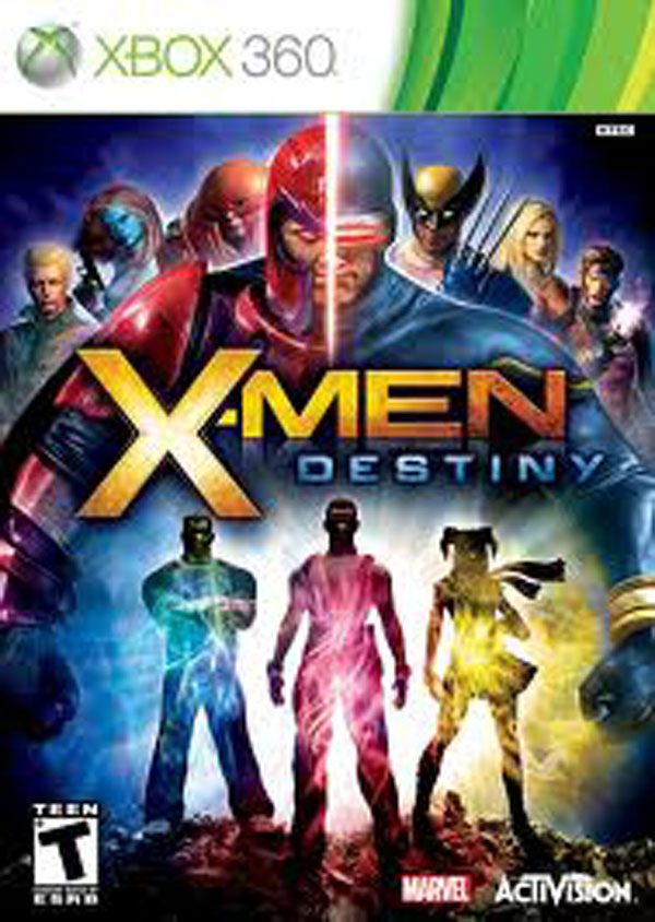 X-Men: Destiny Video Game Back Title by WonderClub