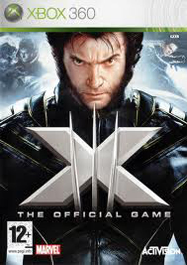 X-Men: The Official Game Video Game Back Title by WonderClub