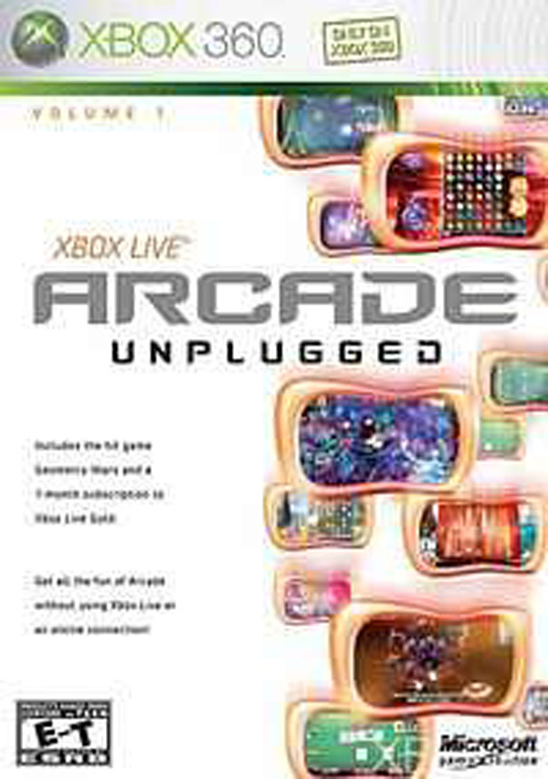 Xbox Live Arcade Unplugged Video Game Back Title by WonderClub